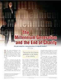The Millenium Generation and the End of Charity
